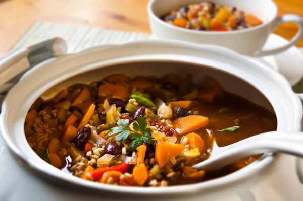 Mushroom barely carrot stew