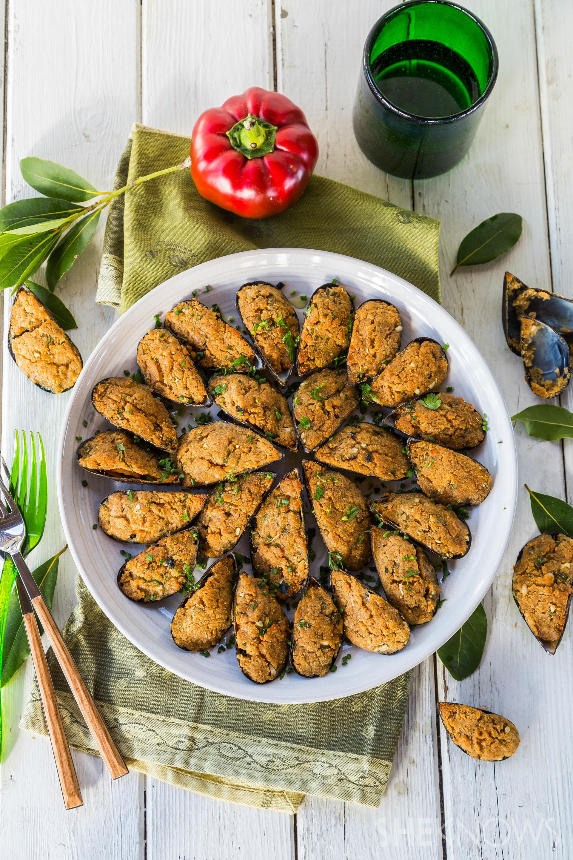 Italian Parmesan mussels