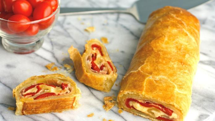Pizza-inspired savory strudel is an easy