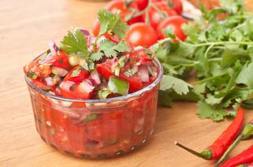 Grilled Tomato and Avocado Salsa