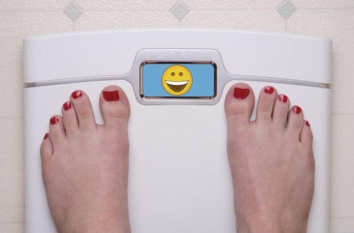 Scale with Feet Emoji Happy