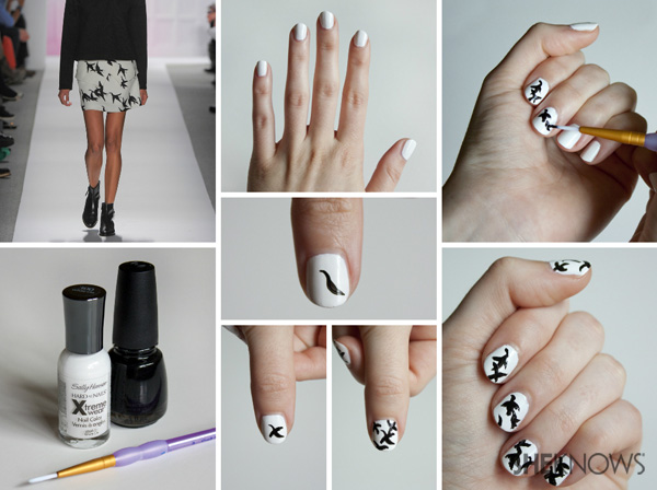Paloma Print nails inspired by Tibi