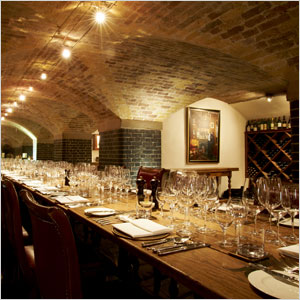 The Napoleon Cellar at Berry Brothers and Rudd in London, UK