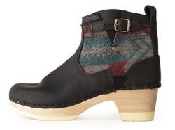 Navajo blanket print boots