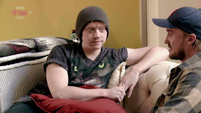 Harry Potter's Rupert Grint dressed in
