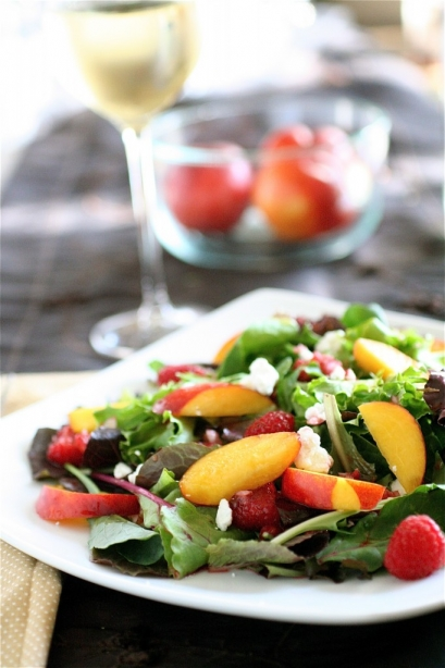 Nectarine and summer fruit salad