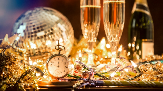 New Year's Eve holiday party with