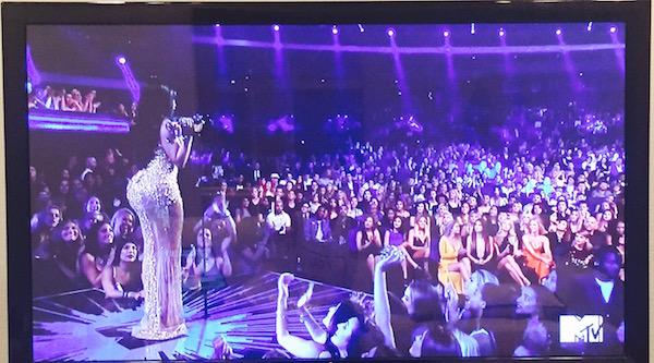 Nikki Minaj's butt at the VMAs