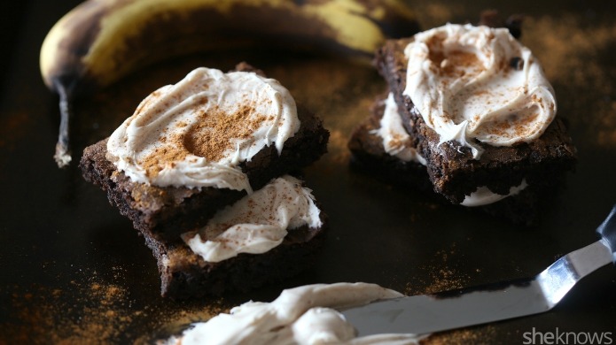 Banana bread brownies are the perfect