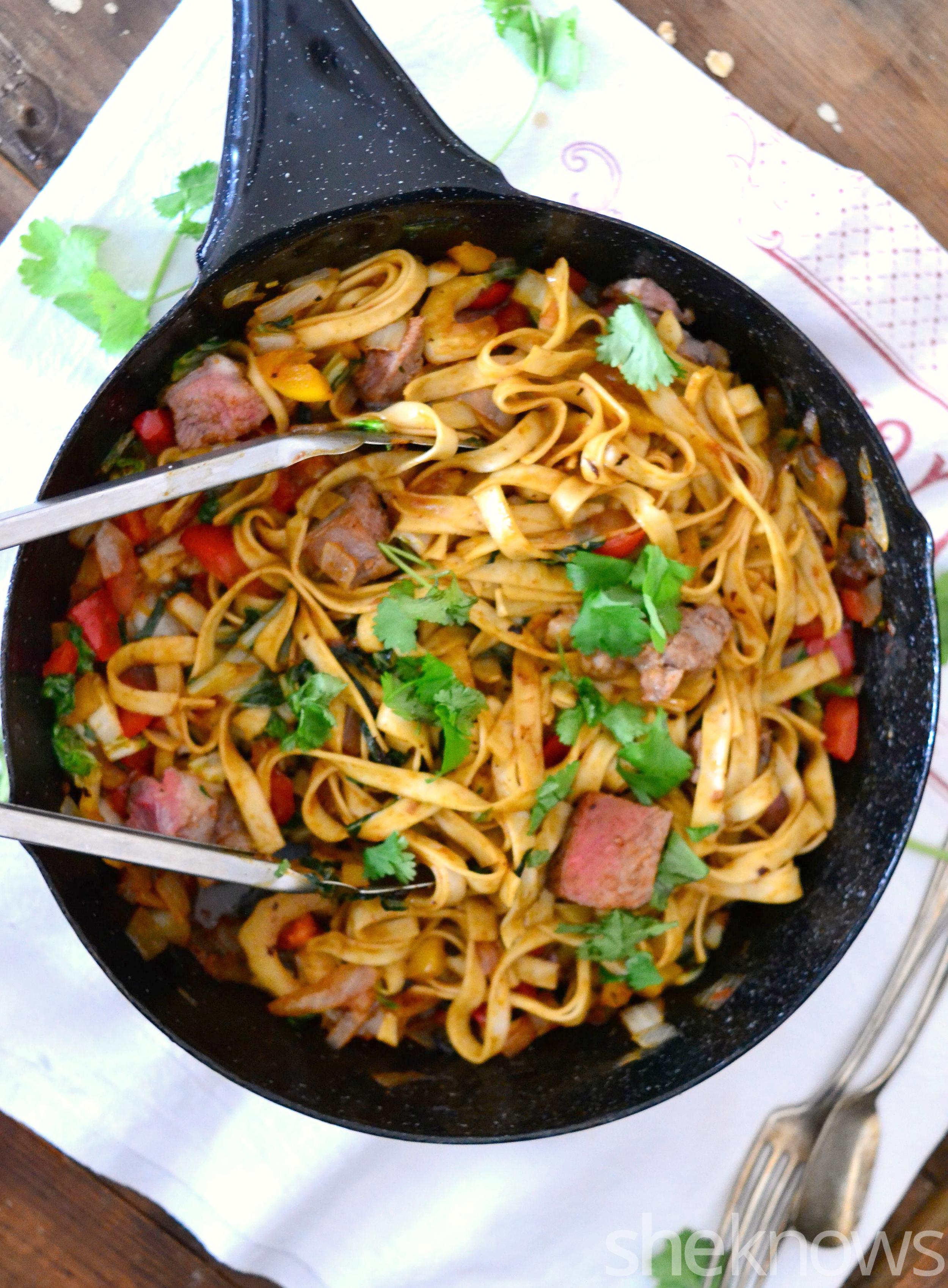 Malaysian lamb stir-fry