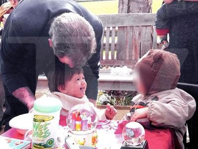 Mel Gibson dotes over baby daughter