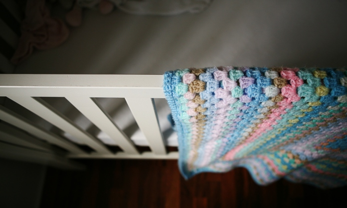 Shadows on baby's cot
