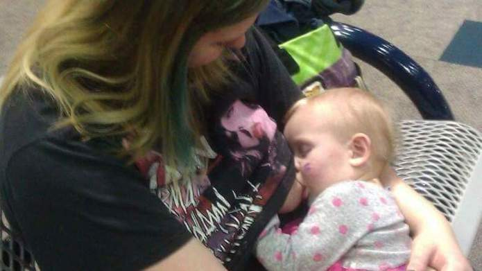 Mom threatened with eviction for breastfeeding
