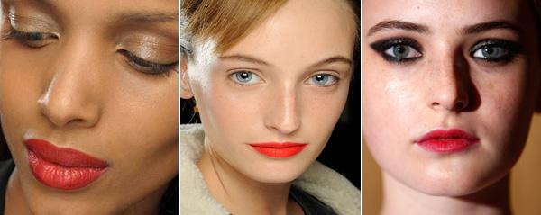 NY Fashion Week red lips