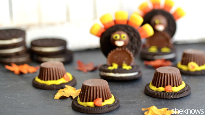 Oreo turkeys and Pilgrim hats —