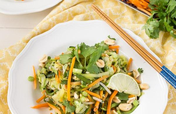 Light and healthy pad thai with