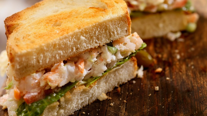 The grilled shrimp roll: Just like