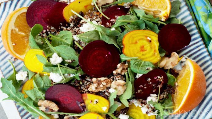 Deliciously nutritious summer citrus quinoa beet