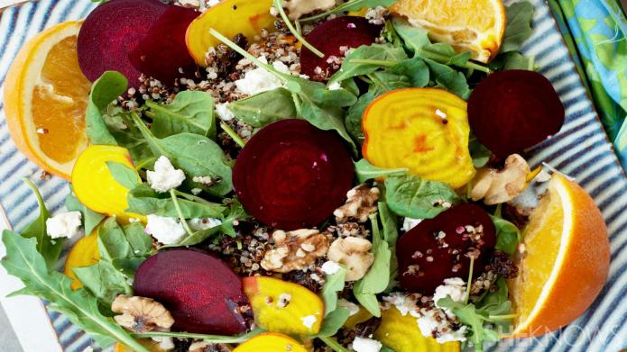 Deliciously nutritious summer citrus quinoa beet