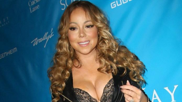 Mariah Carey literally bathes in diamonds