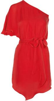 sexy silk one-shoulder mini dress (net-a-porter.com