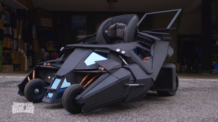 This Batmobile stroller is everything a