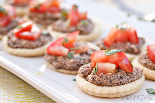 olive and cheese tartlets