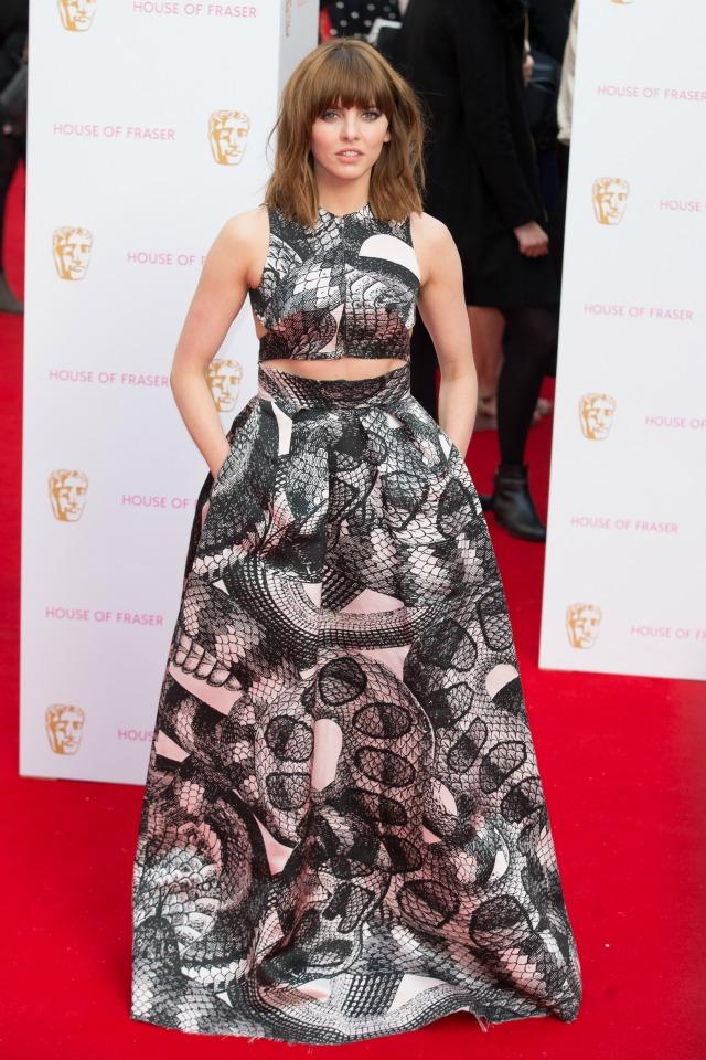 Ophelia Lovibond at the TV BAFTAS 2015