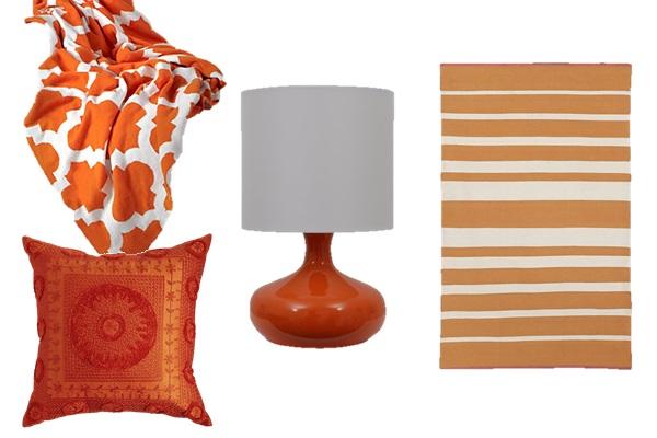 Orange in the bedroom