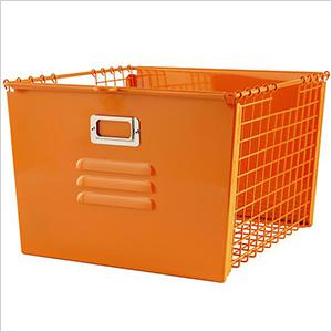 Orange metal locker basket | Sheknows.com