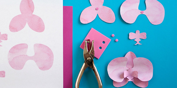 Paper orchid printable template