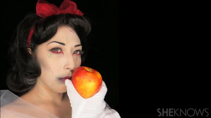 Zombie Disney princess makeup tutorials will