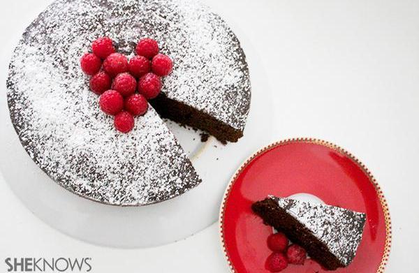 Valentine's Day chocolate merlot cake