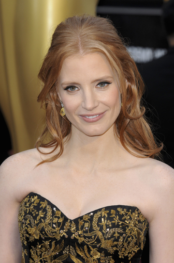 Jessica Chastain at the 2012 Oscars