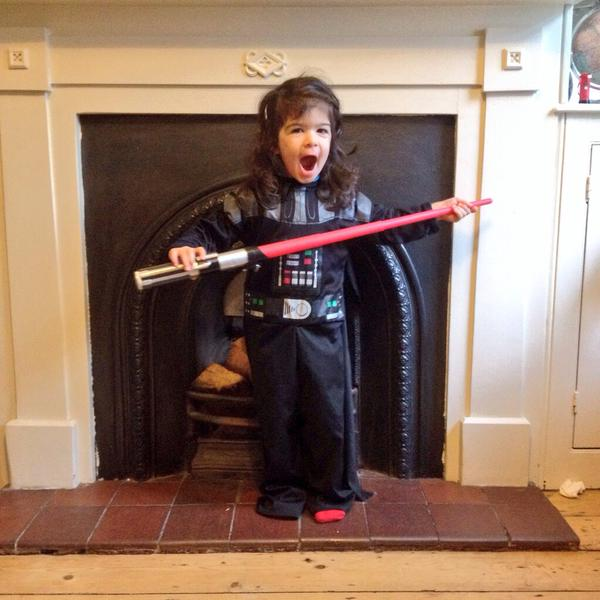 girl dressed as Vadar