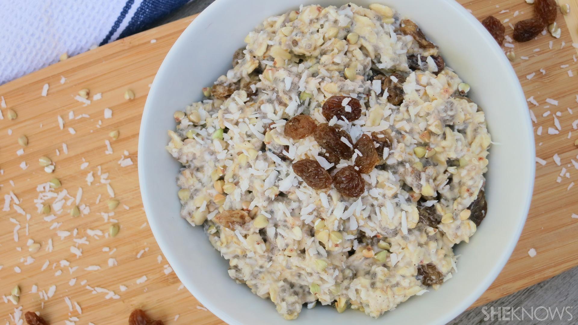 Oatmeal raisin cookie dough overnight oats | Sheknows.ca - Final product