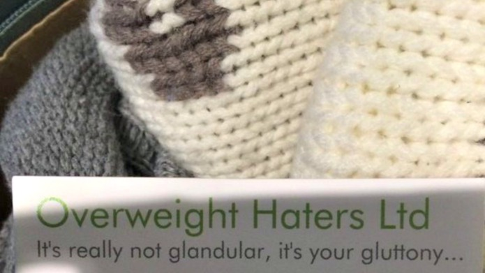 Hateful fat-shaming group is handing out