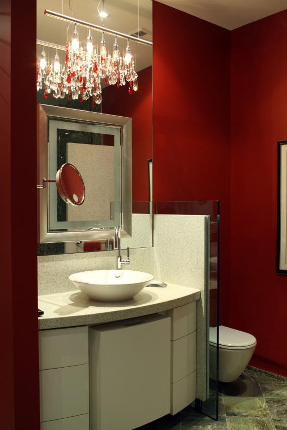 Oxblood bathroom