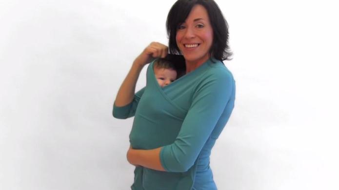Confession: I love this weird babywearing