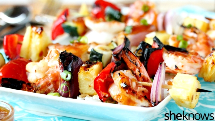Shrimp kebabs with homemade sweet-and-sour you'll