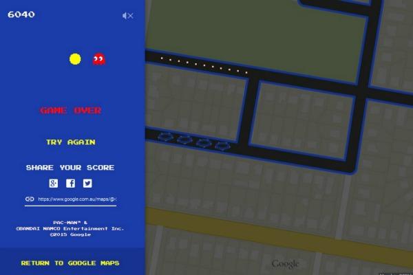 Pac-Man on Google Maps