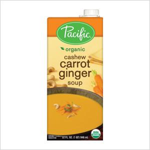 Pacific's Organic Cashew Carrot Ginger Soup