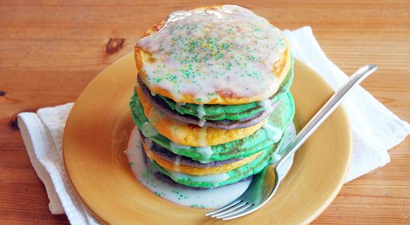 king cake pancake