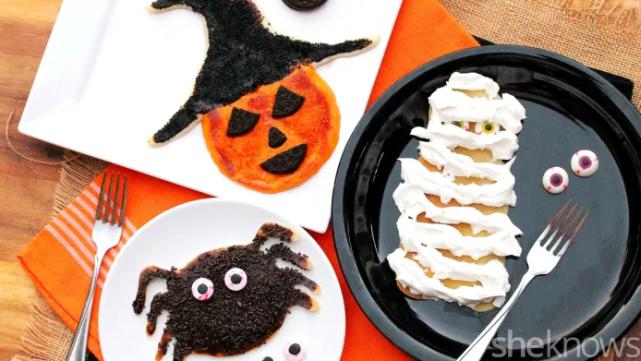 An epic Halloween pancakes recipe