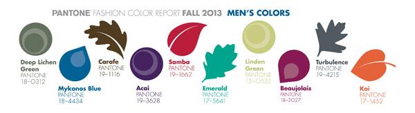 Pantone Color Report 2013 Men's Colors