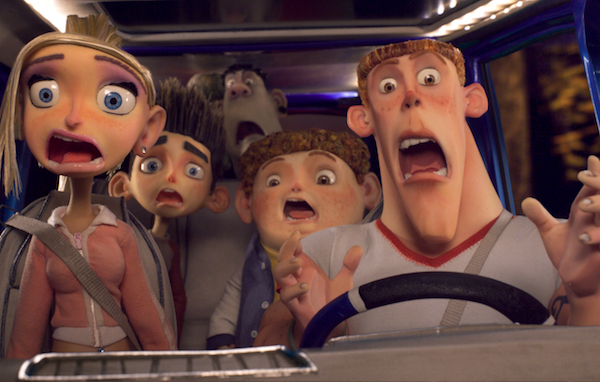 Paranorman group in car