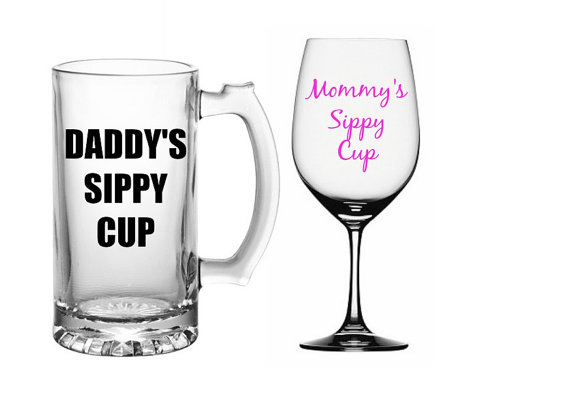 mommy and daddy sippy cups