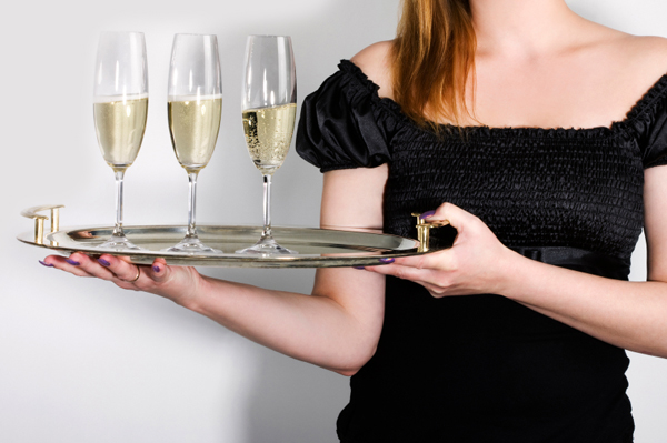 Party Hostess with champagne