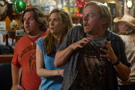 Nick Frost, Kristen Wiig and Simon Pegg in Paul