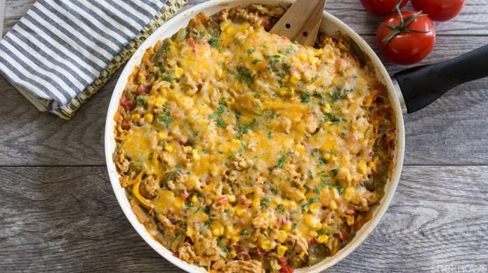 One-Pot Wonder: Cheesy skillet taco bake